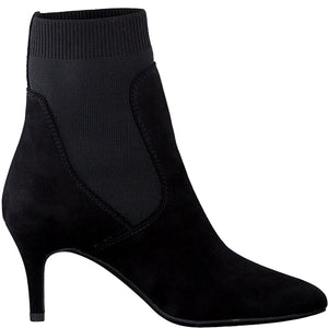 Marco Tozzi Pointed Toe Sock Boot Black
