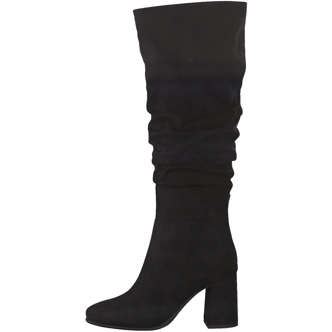 Marco Tozzi Long Ruched Boot Black