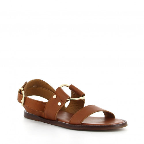 Alpe Flat Leather Sandals