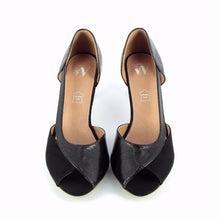 Load image into Gallery viewer, Vw Black Peep Toe