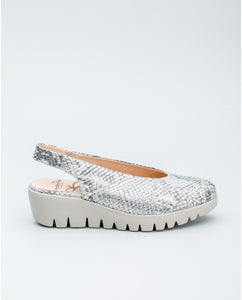 Wonders Python leather mule