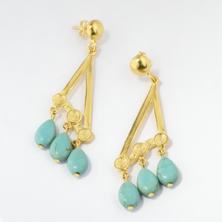 Calypso Turquoise Drop Earrings