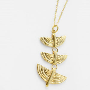 Cleopatra Gold Statement Pendant