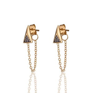 SP Galaxy Chain Earrings Gold