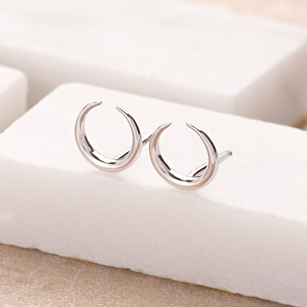 SP Horn Stud Earrings