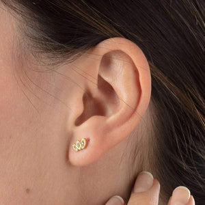 SP Sparkling Three Petal Studs