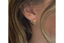 Load image into Gallery viewer, Boho Thurman gold triple half hoop earrings