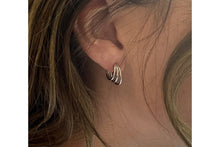 Load image into Gallery viewer, Boho Thurman sterling silver triple half hoop earrings