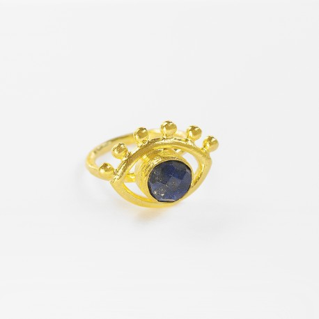 Esana Beaded Eye Cocktail Ring with