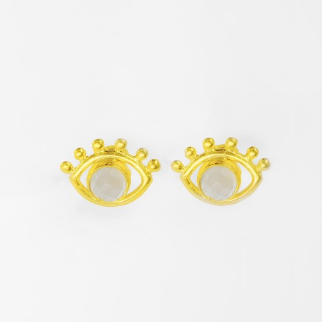 Esana Beaded Eye Stud Earrings