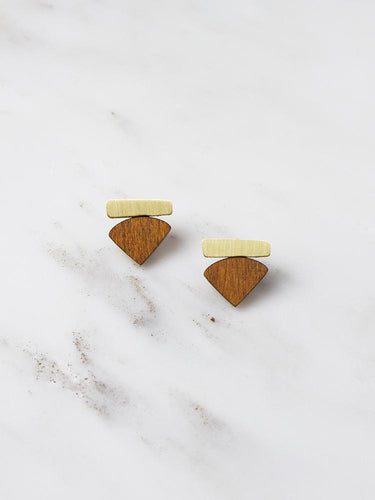 Wolf & Moon Fade Studs