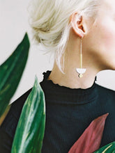 Load image into Gallery viewer, Wolf & Moon Luna drop earrings