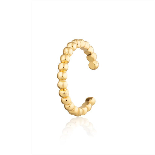 SP Solder Dot Bead Single Ear Cuff - Gold