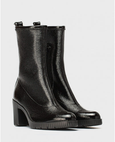 Wonders Soft Platform Black 3/4 Boot