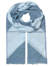 Load image into Gallery viewer, Unmade Colour Block Scarf - Blue