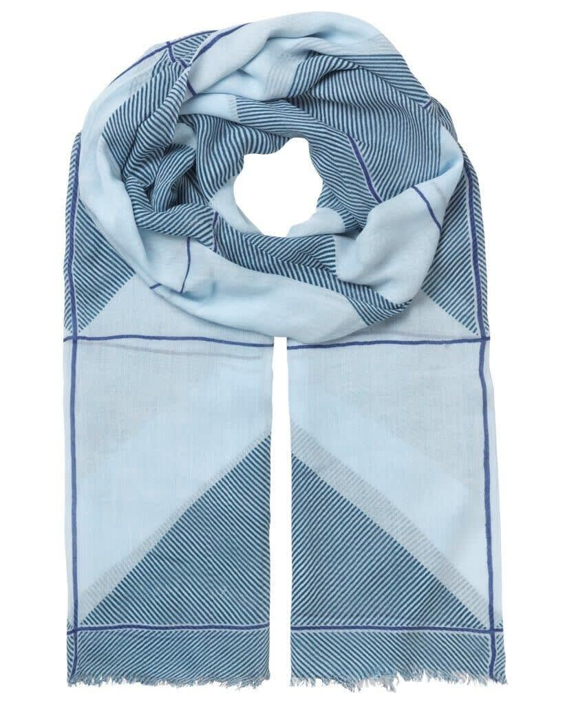 Unmade Colour Block Scarf - Blue