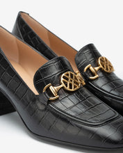 Load image into Gallery viewer, Unisa Heeled Leather Loafers