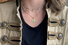 Load image into Gallery viewer, Boho Betty Dewi Gold Cable Chain Necklace with Coin Pendant