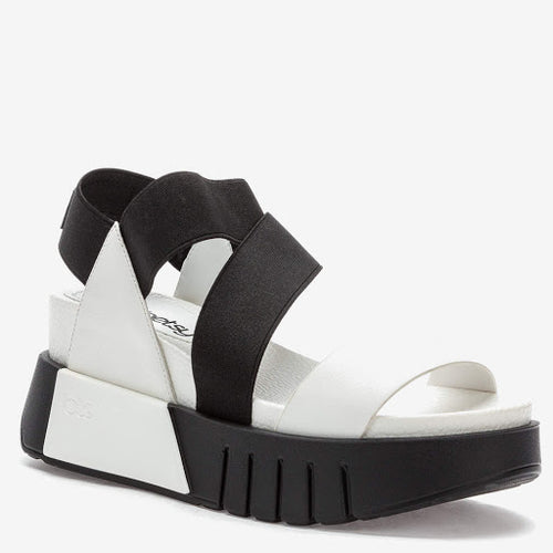 Black & White Wedged Sandal