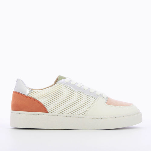 White Mesh Sneakers with Coloured Details