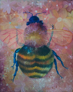 Bumble Bee Oil Painting
