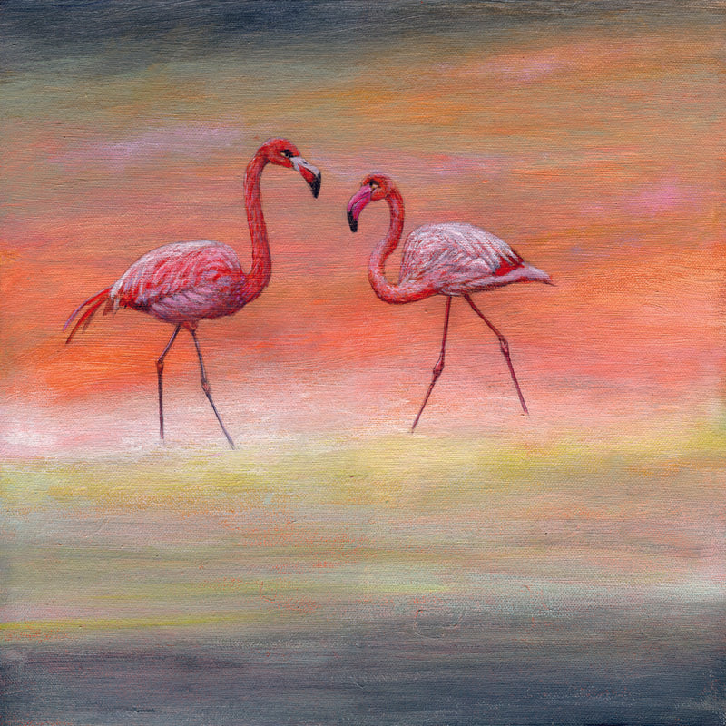 Flamingos Magnetism Painting