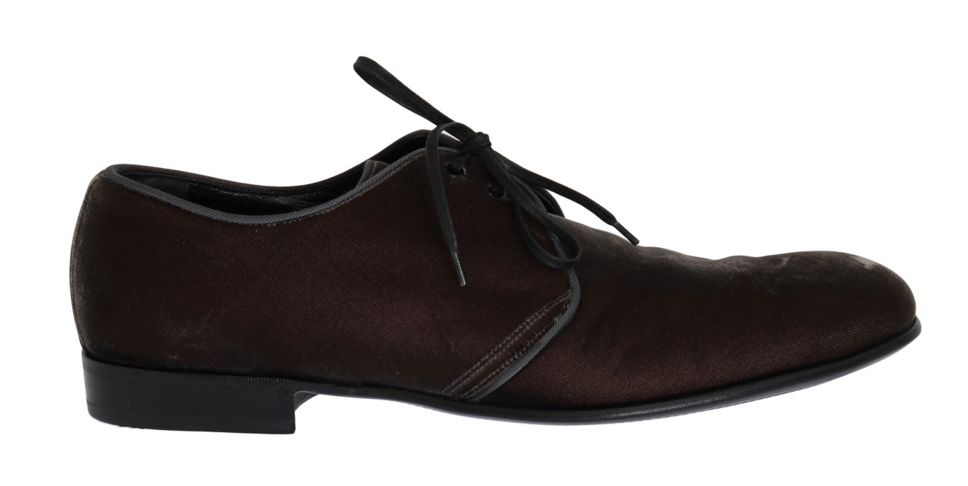 Brown Viscose Dress Laceups Formal Shoes