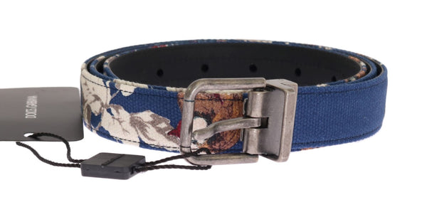 Blue Denim Leather Belt