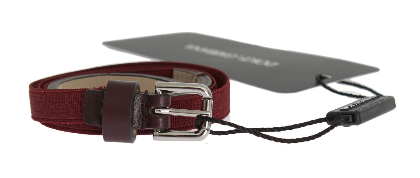 Bordeaux Leather Waist Belt