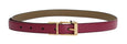 Purple Leather Gold Buckle Belt