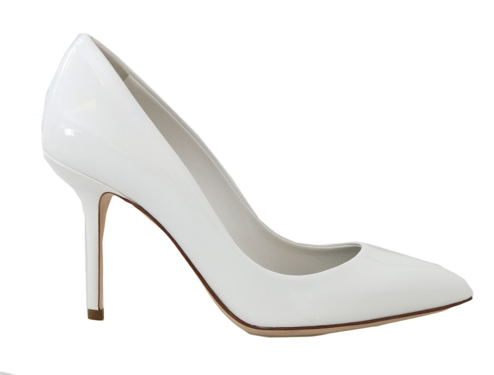 White Patent Leather Pumps