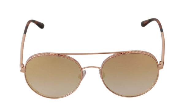 Gold Metal DG2199 Aviator Gradient Mirrored Sunglasses