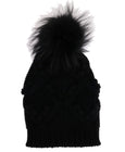 Black Knitted Cashmere Beanie Hat
