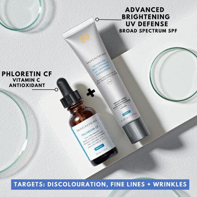 SkinCeuticals Double Defence Phloretin CF Kit. Free Full Sized Advanced Brightening UV Defence SPF 50 Worth €49.00