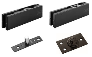 Black Glass Door Fittings