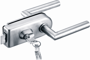 Stainless Steel Lever Latch - 10 -12mm Glass Doors - QIC Ironmongery