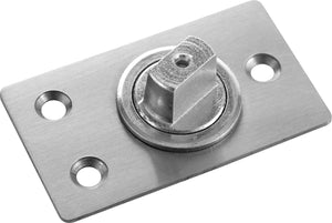 Glass Door Patch Fitting Set - Stainless Brushed - QIC Ironmongery