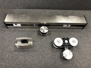 Glass Door Aluminium Sliding Rail Kit - QIC Ironmongery