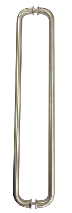 Stainless Door Pull Handles Pair D Style 600 mm x 19 mm - QIC Ironmongery