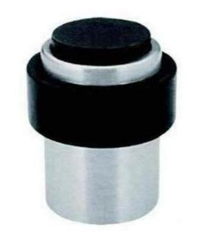 Glass Door Stop Rubber & Stainless Steel Floor Fitting - QIC Ironmongery
