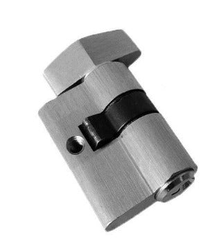 Euro Cylinder Barrel Thumb Turn 49mm Key Unique - QIC Ironmongery