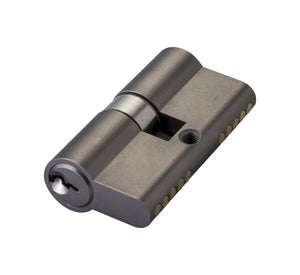 Euro Cylinder Barrel Key Turn 60 mm Key Unique Matte Black - QIC Ironmongery