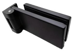 Stainless Glass Door Hinge Matte Black - QIC Ironmongery