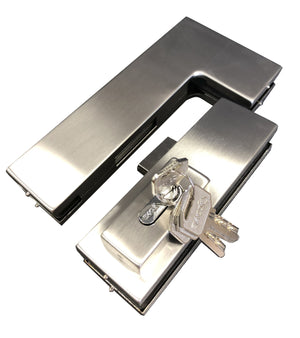 Top Over Patch Glass Door Strike Plate Stainless - QIC Ironmongery