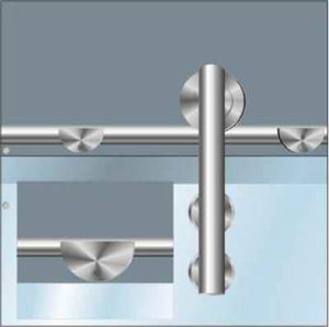 Stainless Sliding Glass Door System Wall Bracket - QIC Ironmongery