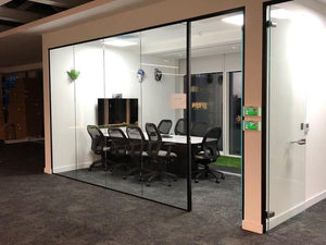 EV Wedge Style Aluminium Glazing Partition Channel 25 x 25 x 3000 mm - QIC Ironmongery