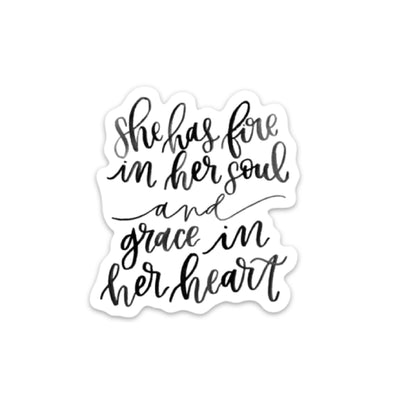 Fire & Grace Sticker - swaygirls