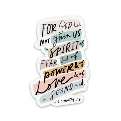 2 Timothy 1:7 Sticker - swaygirls