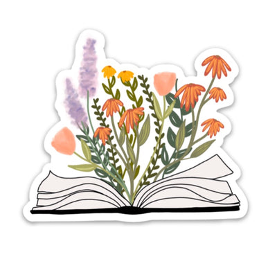 Book & Flowers Magnet - swaygirls
