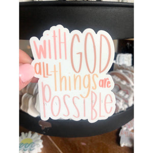MATTHEW 19:26 | All Things Possible - swaygirls